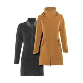Bergans W's Oslo 3in1 Coat Outer:DesertMel/Inner:SolidCharcMel